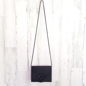 Sasha Vintage Black Floral Crossbody Clutch